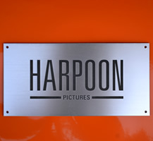 Harpoon Pictures Engraved Sign