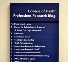 College of Health Engraved Sign