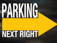 Parking Sign for Fence template