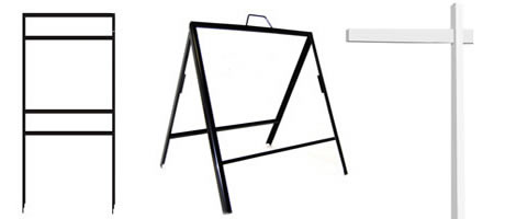 example of a stake or frame - Metal Sign Frames