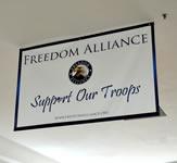 Freedom Alliance Indoor Banner