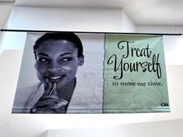 Example of vinyl indoor banner
