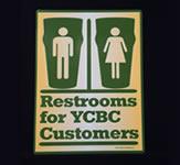YCBC Restroom Indoor Door Sign