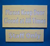 Staff Only Indoor Door Sign