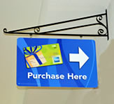 An example of a hanging sign