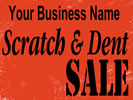 Browse scratch and dent indoor hanging sign templates