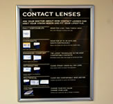 Contact Lenses Indoor Wall Sign