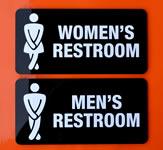 Restroom Indoor Wall Sign