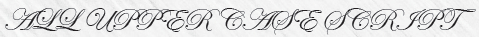 All Upper Case Script Letters