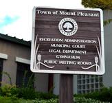 Sandblasted Redwood Pole Mounted Sign