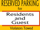 Reserved outdoor wall sign templates