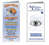 Brochure and Menu Examples