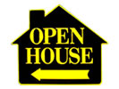 Browse pre-made open house sign