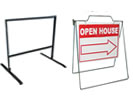 Browse sidewalk frames for real estate signs