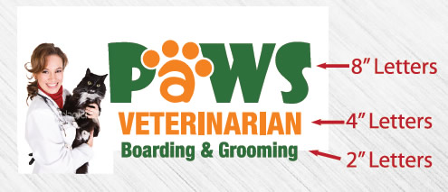 Paws Veterinarian letter sizes