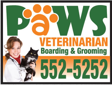 Paws Sign with No Negative Space