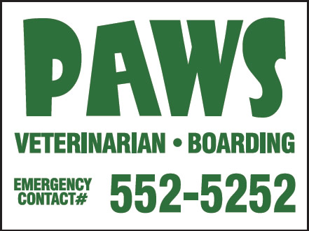 Paws Veterinarian Original Sign