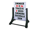 Browse changeable A frame sidewalk signs