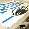 Example of a Sports Team and Logo on their own Custom Banner