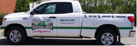 Photo of a Truck with Vinyl Lettering