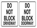 Browse do not block street sign templates