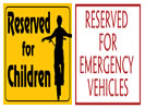 Browse reserved street sign templates