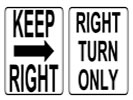 Browse traffic flow street sign templates