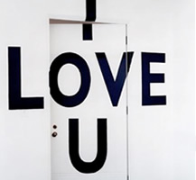 I Love You Wall Lettering and Graphics