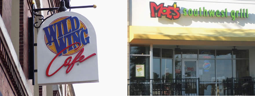 Outdoor Hanging Signs-3D Wall Letters
