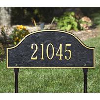 The Commander Cast Metal Lawn  Plaque (Standard - 1 line)