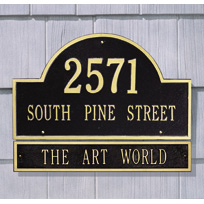 The Woodlands Cast Metal Extension Wall Plaque (Large - 1 line)