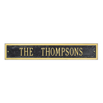The Woodlands Cast Metal Extension Wall Plaque (Standard - 1 line)