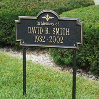 Greenwood (In Memory of) Cast Metal Lawn Plaque