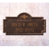 Greenwood (In Memory of) Cast Metal Wall Plaque