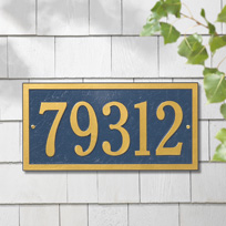 The Columbia Cast Metal Wall Plaque (Standard - 1 line)