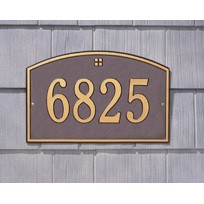 Cape Cod Cast Metal  Wall Plaque (Standard - 1 line)