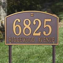 Cape Cod Cast Metal Lawn Plaque           (Standard - 2 lines)