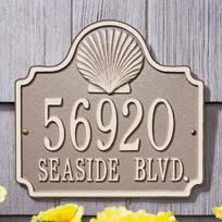 Beach Retreat Cast Metal Wall Plaque (Standard - 2 lines)