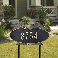 The Patriot Cast Metal Lawn Plaque (Standard - 1 line)