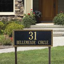 The Debutante Cast Metal Lawn Plaque (Large - 2 lines)