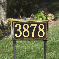 The Debutante Cast Metal  Lawn Plaque (Standard - 1 line)