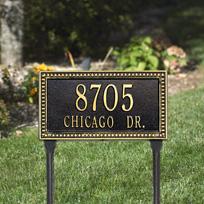 The Debutante Cast Metal Lawn Plaque (Standard - 2 lines)