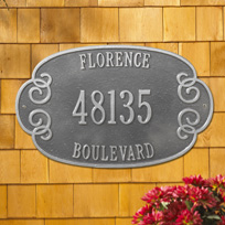 Greenwich Cast Metal Wall Plaque (Large - 3 lines)