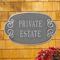 Greenwich Cast Metal Wall Plaque (Large - 2 lines)