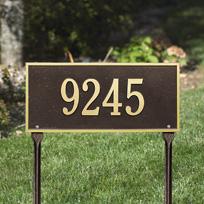 Regal Port Cast Metal Lawn  Plaque (Standard - 1 line)