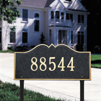 The Monticello Cast Metal Lawn Plaque (Standard - 1 line)