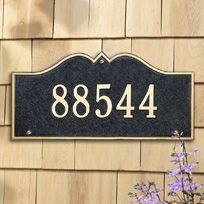 The Monticello Cast Metal Wall Plaque (Standard - 1 line)