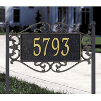 Baroque Cast Metal Lawn Plaque (Standard - 1 line)