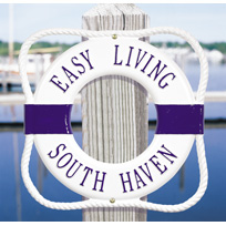 Ring Buoy Cast Metal Wall Plaque (Standard - 2 lines)
