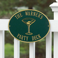 Dry Martini Cast Metal Wall Plaque (Standard - 2 lines)